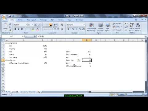 #Financial Modeling: Weighted Average Cost of Capital (WACC ...
