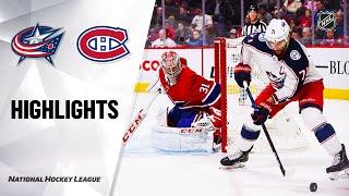 NHL Highlights | Blue Jackets @ Canadiens 2/2/20