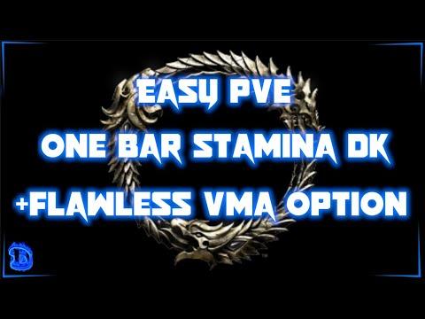 ESO – Easy PvE 1 Bar Stamina Dragonknight (StamDK) Plus Optional vMA Build - Greymoor 2020