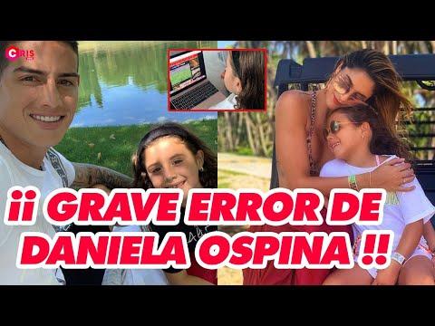 Grave error de Daniela ospina mientras Salome Rodriguez apoyaba a james Rodriguez
