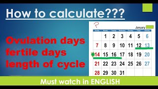 HOW TO CALCULATE OVULATION DAYS   AFTER PERIODS LENGTH OF CYCLE   FERTILE DAYS   SAFE DAYS   ENGLISH