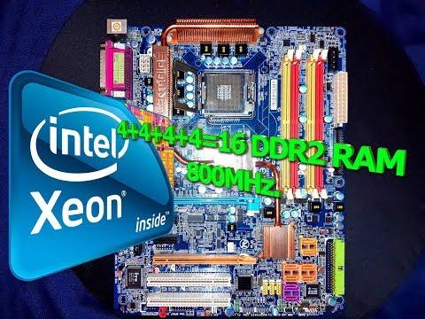 Gigabyte GA-965P DS4 16GB DDR2 RAM XEON E5450 BENCHMARK+GAME TEST