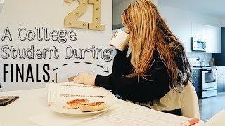 A day in the life of a college student during finals