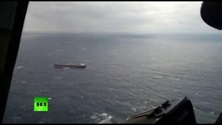 Спасатели работают в зоне крушения сухогруза в Чёрном море