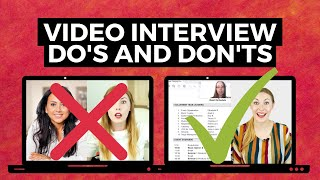 Video Interview TIPS  - How to Stand Out in Video Interview for Jobs!