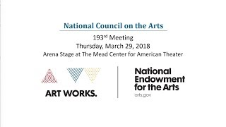 National Council on the Arts March 2018 Webcast Archive