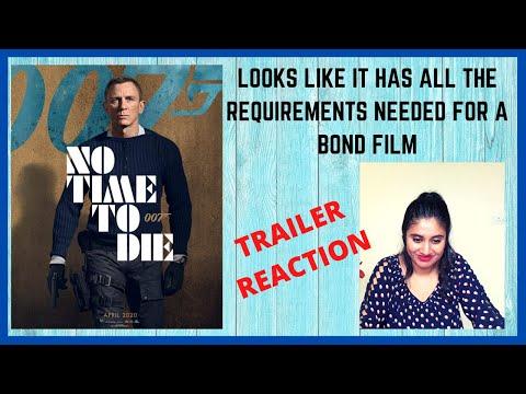 NO TIME TO DIE TRAILER REACTION   James Bond film   Ashmita Reacts