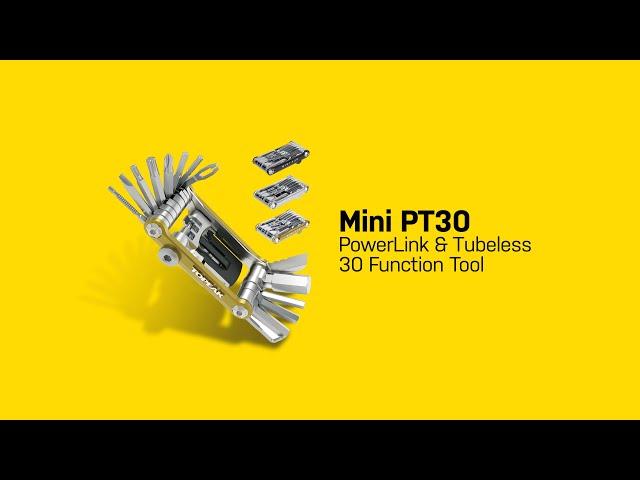 Видео Ключ складний Topeak Mini PT30