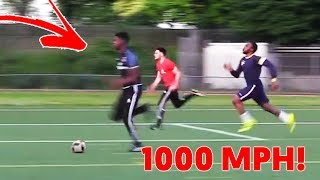 RUNNING at 1000MPH in a FOOTBALL MATCH!! - is it POSSIBLE ?? 😱🔥