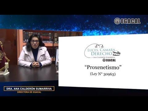 PROXENETISMO - Luces Cámara Derecho 137