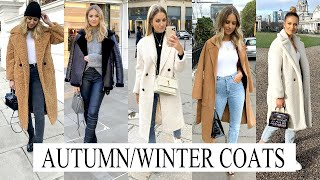 MY TOP 5 AUTUMN/WINTER COATS | TOPSHOP, ZARA, BOOHOO