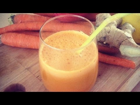 Video Carrot, Apple, Celery and Ginger Fresh Juice
