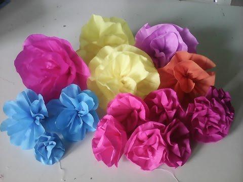 Flor com papel crepom