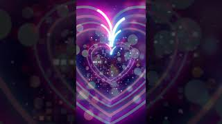Neon lights heart background screensaver (Mobile) | Neon heart background | Android & Apple mobiles