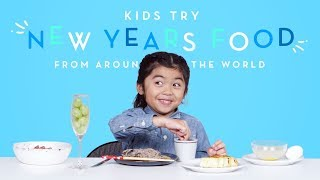 Kids Try New Years Food from Around the World | Kids Try | HiHo Kids