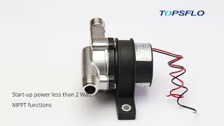 12V Solar Pumps for solar water heater systems youtube video