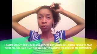 Natural Hair Styles - CORNROW UPDO WITH A SIDE TWIST