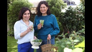 Youtube thumbnail for Nicola makes a smoothie using greens from her garden
