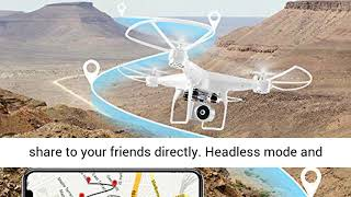40Mins Flight Time Drone, JJRC H68 RC Drone with 720P HD Camera Live Video FPV Quadcopter
