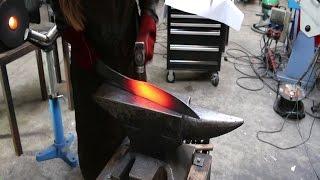 Forging a Celtic Falcata sword, part 1.