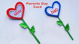 Parents day card making handmade/ Easy and beautiful card for parent's day   Parents Day Cards