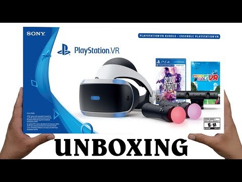 Unboxing PlayStation VR Blood & Truth and Everybody's Golf VR Bundle
