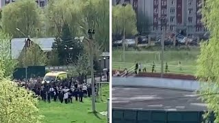 video: At least 8 killed during school shooting in Russia, including children