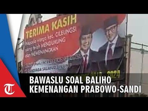 Komentar Bawaslu soal Baliho Raksasa Kemenangan Capres Prabowo di Bogor