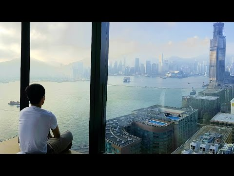 AMAZING HOTEL ROOM TOUR in HONG KONG! (Insane Views @ Hotel Icon!)