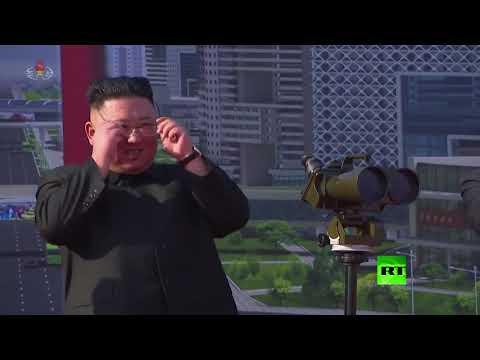 العرب اليوم - شاهد:زعيم كوريا الشمالية يحضر مراسم وضع حجر أساس بمشروع بناء ضخم