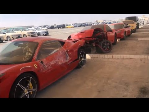 ABANDONED CARS IN DUBAI-MULTI BILLIONAIRE'S EDITION(FERRARI,BENTLEY,AUDI R8,G WAGONS)