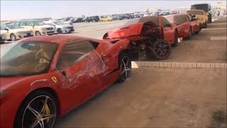 ABANDONED CARS IN DUBAI-MULTI BILLIONAIRE'S EDITION(FERRARI,BENTLEY,AUDI R8,G WAGONS)