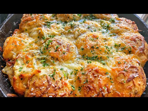 CHEESY STUFFED BISCUIT GARLIC BREAD!!! | QUARANTINE RECIPES