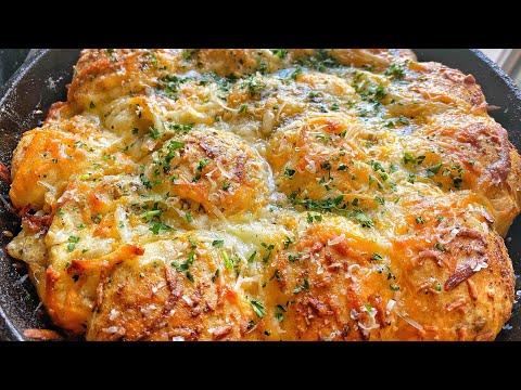 CHEESY STUFFED BISCUIT GARLIC BREAD!!! | QUARANTINE RECIPES