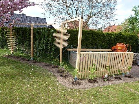 2.Teil: Rankgitter oder Rankhilfe, Spalier für den Garten einfach selber machen