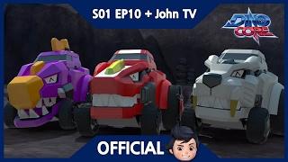 [Official] DinoCore & John TV | The Mech Dino Sarcosuchus | 3D | Season 1 Episode 10