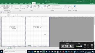 Excel: Remove Page breaks and Page Number watermark from a sheet