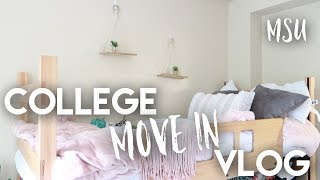 COLLEGE MOVE IN DAY VLOG 2018 | getting settled, target, & parties