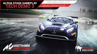 Assetto Corsa Competizione  Gameplay - Mercedes AMG GT3 @ Misano - Wet AI Race