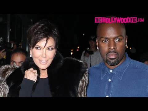 Kris Jenner Corey Gamble Look So In Love At The Ouai Haircare Party In West