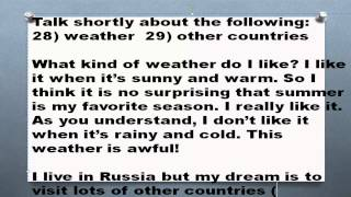 1000 английских топиков Часть 14 Weather Other countries погода другие страны топики по английскому