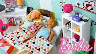 Barbie & Ken Family Morning Routine - Baby Doll Toy Pool Fun!