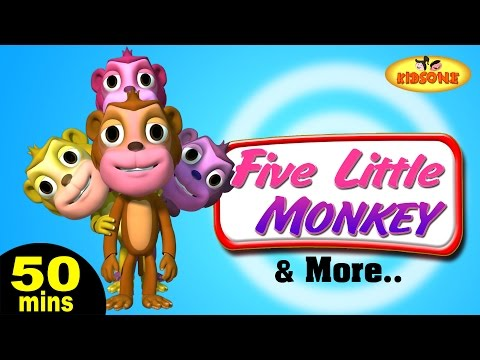 Five Little Monkeys Jumping On The Bed & More Classic Children's Rhymes | 50 Mins Compilation