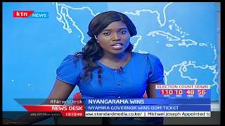 Its all celebrations for Nyamira governor-John Nyagarama's supporters as he wins primaries