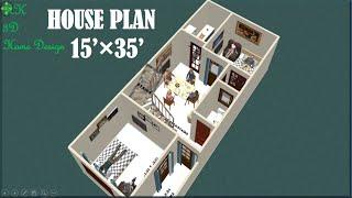 15 Ft × 35 Ft Home Design II 15*35 House Plan II 15 By 35 Ghar Ka Naksha II