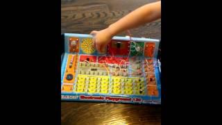 Joey 4 years 4 mo explaining Elenco Electronic Playground Project