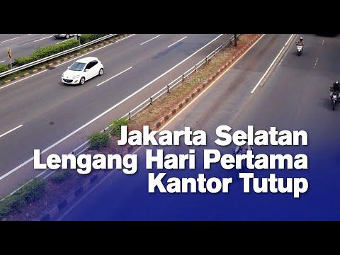 Jakarta Selatan Lengang Hari Pertama Kantor Tutup