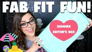 WOW! OVER A $300 VALUE!   FabFitFun Unboxing & Review!   Summer Editor