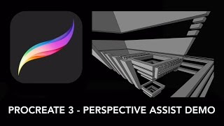 Procreate Tutorial - Perspective Assist Guide demo for iPad artists