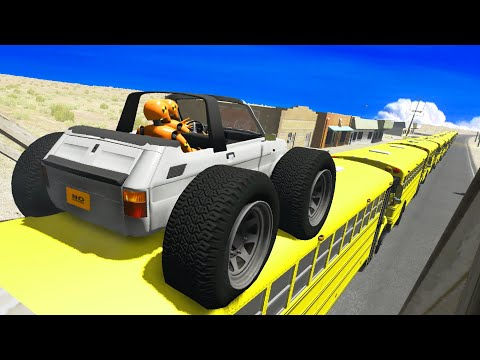 BeamNG DRIVE - Impossible Car Stunts #20